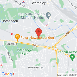 Combat Archery Wembley, London Location Map