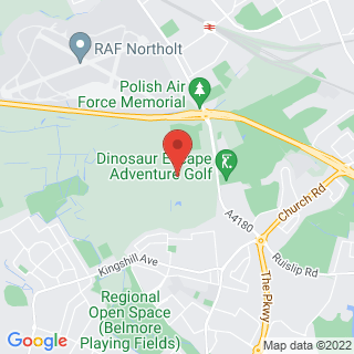 Quad Biking Northolt, West London Location Map