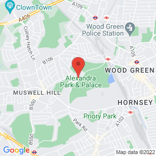Segway London, Alexandra Palace Location Map