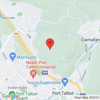 Gorge Scrambling Pontneddfechan - East  Location Map