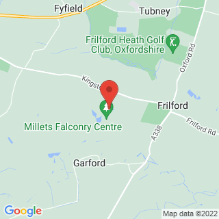 Birds Of Prey Frilford, Oxfordshire Location Map