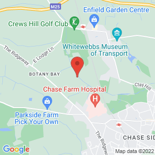 Clay Pigeon Shooting Enfield Location Map
