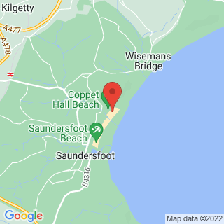 Paddle Boarding (SUP) Saundersfoot Location Map