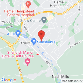 Snowboarding Hemel Hempstead Hertfordshire Location Map