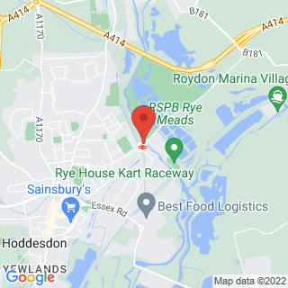 Karting Hoddesdon, Hertfordshire Location Map
