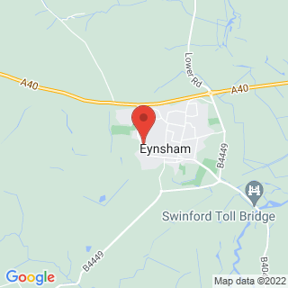 Bubble Football Eynsham, Oxfordshire Location Map