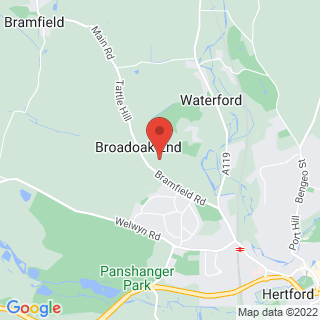 Clay Pigeon Shooting Hertford, Hertfordshire Location Map