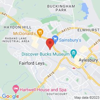 Karting Aylesbury, Buckinghamshire Location Map