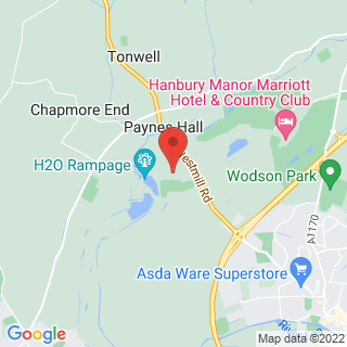 Air Rifle Ranges Ware, Hertfordshire Location Map