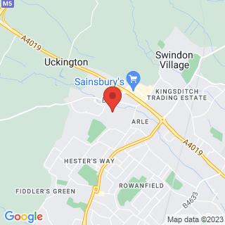 Bubble Football Cheltenham, Gloucestershire Location Map