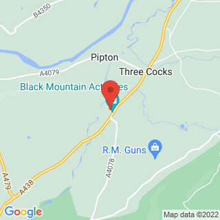 Clay Pigeon Shooting Brecon, Powys Location Map
