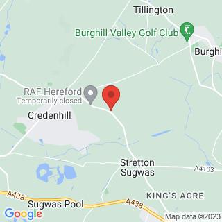 Kayaking Hereford Location Map