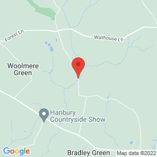 Archery Hanbury, Worcestershire  Location Map