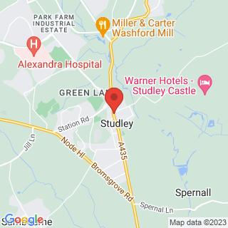 Scuba Diving Studley, West Midlands Location Map