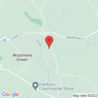 Clay Pigeon Shooting Hanbury, Worcestershire Location Map