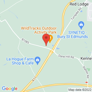 Archery Newmarket, Suffolk Location Map