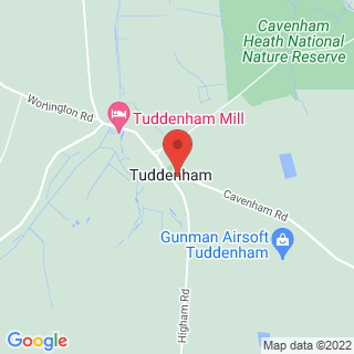 Airsoft Tuddenham, Suffolk Location Map