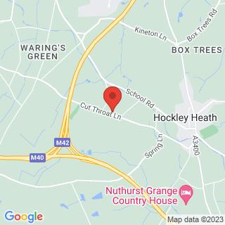 4x4 Off Roading Hockley Heath Location Map