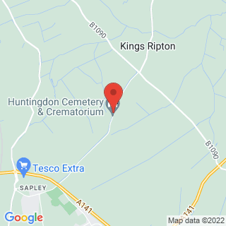 Off Road Karting Kings Ripton, Nr Huntingdon Location Map