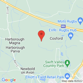 Clay Pigeon Shooting Cosford, Nr Rugby Location Map