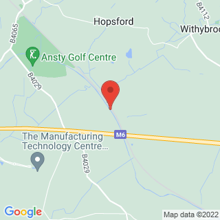 Paintball Coventry Location Map