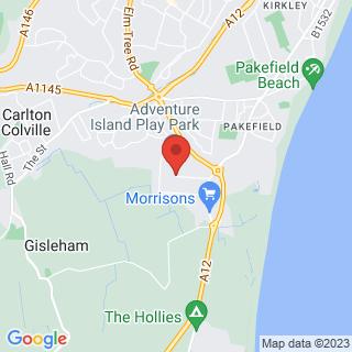 Scuba Diving Lowestoft, Norfolk Location Map