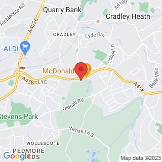 Bubble Football Halesowen, West Midlands Location Map