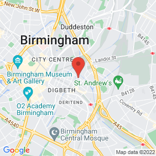 Karting Birmingham Centre, Midlands Location Map