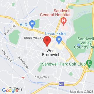 Zombie Survival West Bromwich Location Map