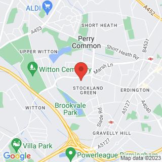 Bubble Football Birmingham, Marsh Hill Location Map