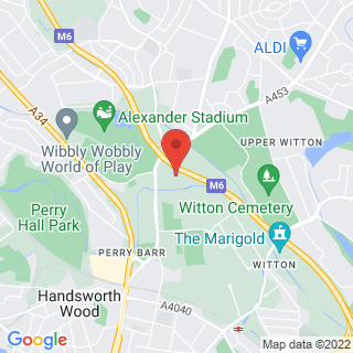 Bubble Football Perry Barr Location Map