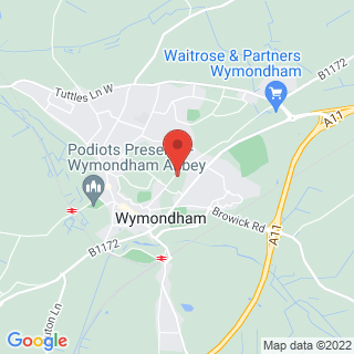 Scuba Diving Wymondham Location Map