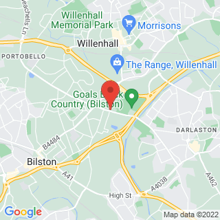 Bubble Football Willenhall Location Map