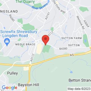 Bubble Football Shrewsbury, Shropshire Location Map