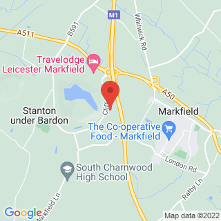 Paintball Leicester - Markfield Location Map