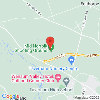 Clays Taverham, Norfolk Location Map