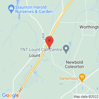 Clay Pigeon Shooting Lount, Leicestershire Location Map