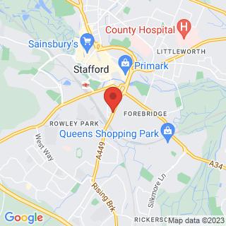 Archery Stafford Location Map