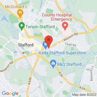 Combat Archery Stafford Location Map