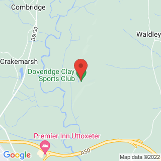 Clay Pigeon Shooting Ashbourne, Derbyshire Location Map