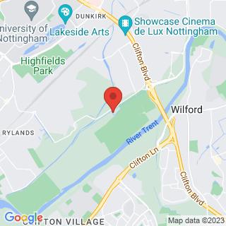Bubble Football Nottingham Location Map