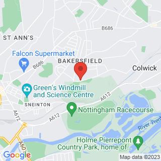 Combat Archery Nottingham, Bakersfield Location Map