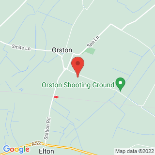 Clay Pigeon Shooting Orston, Nottingham Location Map