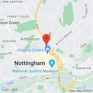 VR Experiences Nottingham, VR Escape Rooms Location Map