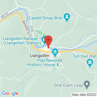 White Water Rafting Llangollen Location Map