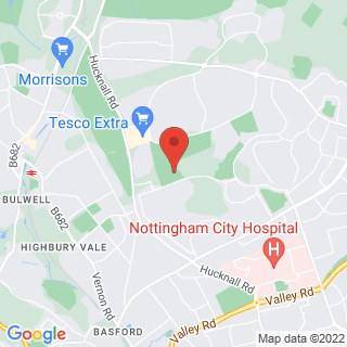 Bubble Football Bestwood, Nottingham Location Map