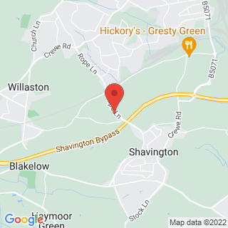 Combat Archery Crewe, Cheshire Location Map