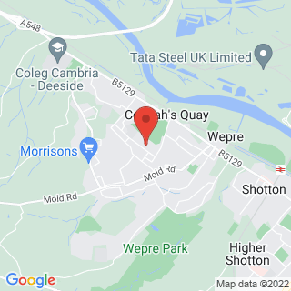 Clay Pigeon Shooting Deeside, Clwyd Location Map