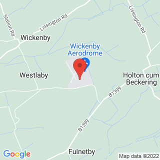 Microlight Lissington Location Map