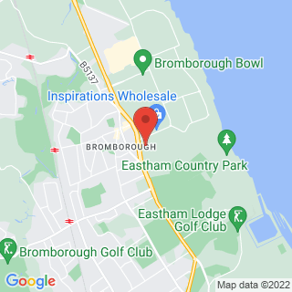 Bubble Football Bromborough, Wirral Location Map